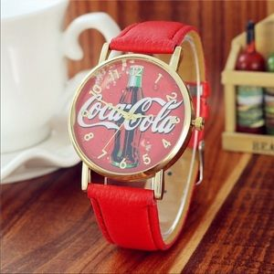 Red Coca Cola quartz watch